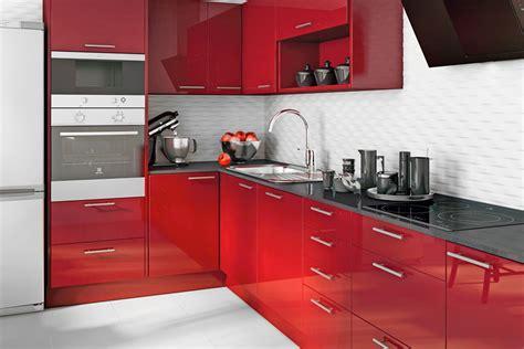 Cocina Delinia Galaxy Rojo Ref. 16987796   Leroy Merlin