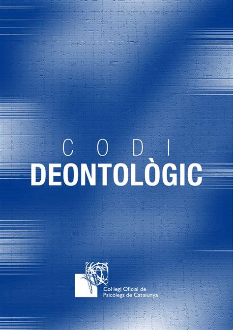Codi Deontològic   Col·legi Oficial de Psicologia de Catalunya