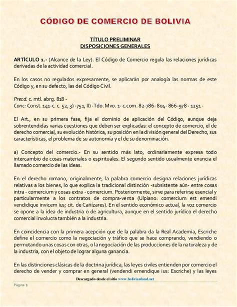 Código comercio Bolivia