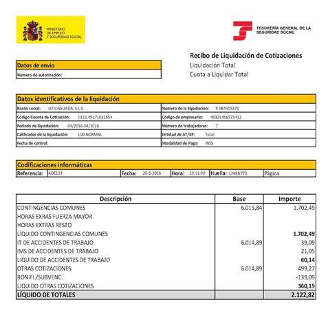 Codigo Cuenta Cotizacion Seguridad Social Ejemplo ...