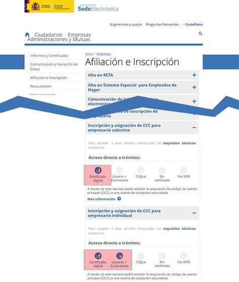 Código Cuenta de Cotización. Seguridad Social Empresas ...