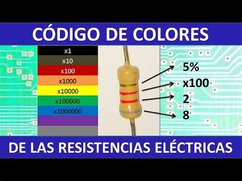 codigo de colores de las resistencias eléctricas   YouTube