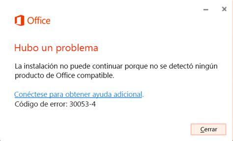 Código de error 30053 4 o 30053 39 al instalar un paquete ...