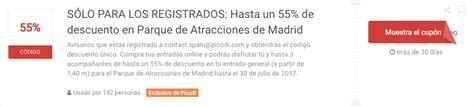 Código descuento Parque de Atracciones Madrid   30% ...