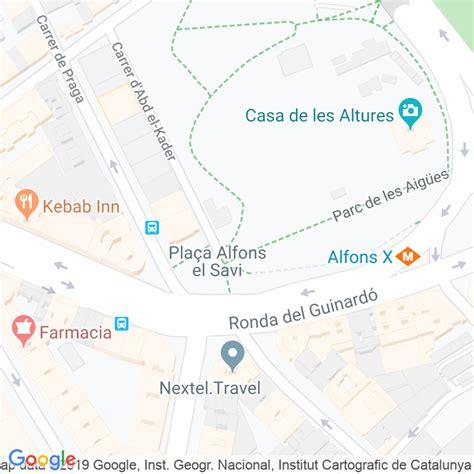 Código Postal calle Aigües, De Les, parc en Barcelona ...