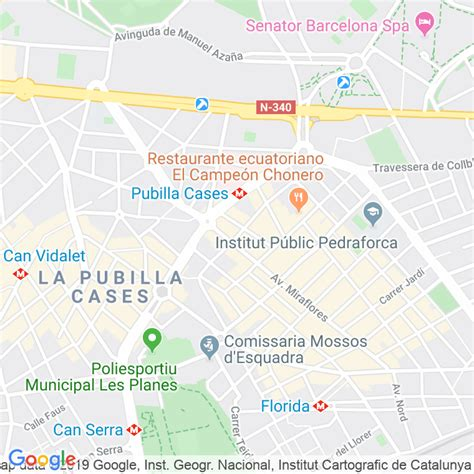 Código Postal calle Aigues Del Llobregat  Impares Del 109 ...