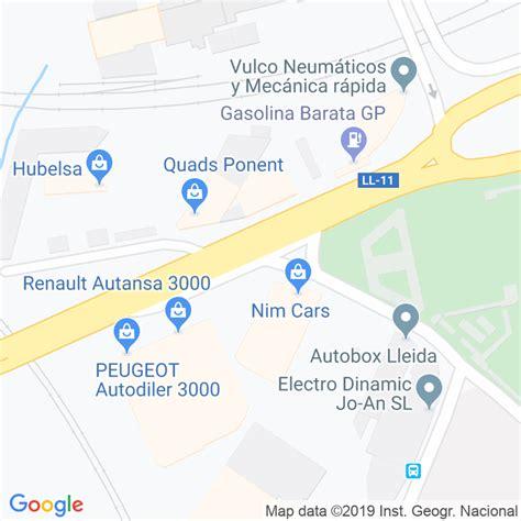 Código Postal calle Almeria en Lleida   Codigopostalde.es