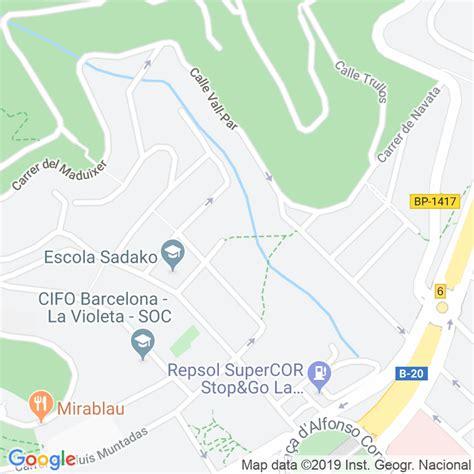 Código Postal calle Apel.les Mestres en Barcelona ...