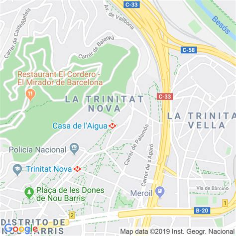 Código Postal calle Barri Trinitat Nova en Barcelona ...