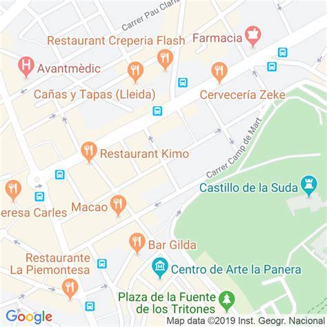 Código Postal calle Bonaire en Lleida   Codigopostalde.es
