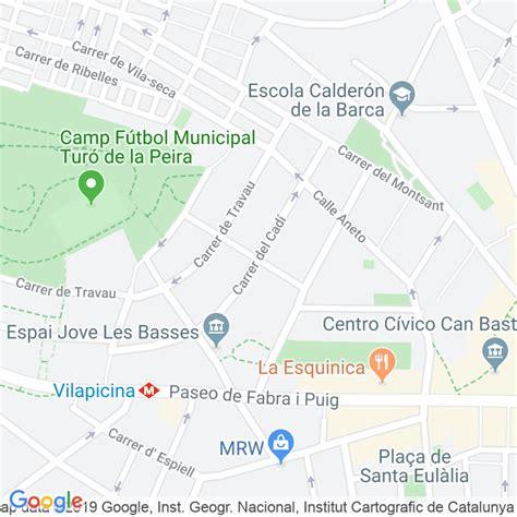 Código Postal calle Cadi en Barcelona   Codigopostalde.es
