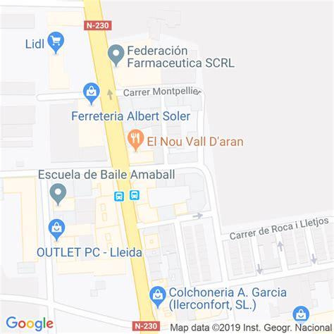 Código Postal calle Cantabria en Lleida   Codigopostalde.es