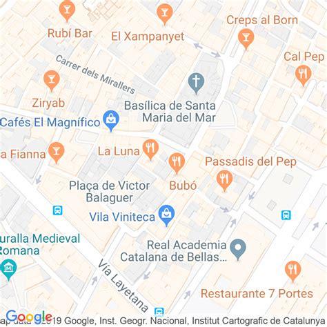 Código Postal calle Caputxes, De Les en Barcelona ...