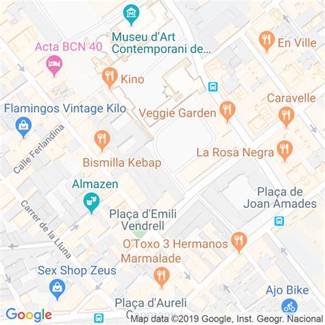 Código Postal calle Caramelles, De Les, plaça en Barcelona ...