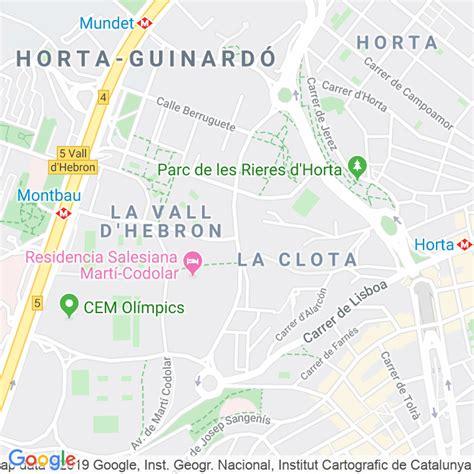 Código Postal calle Cardenal Vidal I Barraquer, avenida en ...