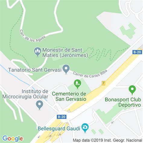 Código Postal calle Carles Riba en Barcelona ...