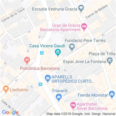 Código Postal calle Carolines, De Les en Barcelona ...