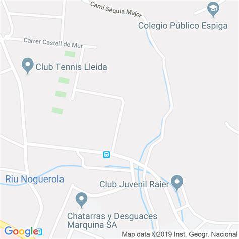 Código Postal calle Castell De Verdu en Lleida ...