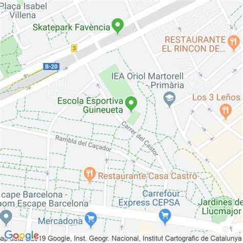 Código Postal calle Castor en Barcelona   Codigopostalde.es