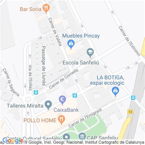 Código Postal calle Cornella en Hospitalet de Llobregat,l ...