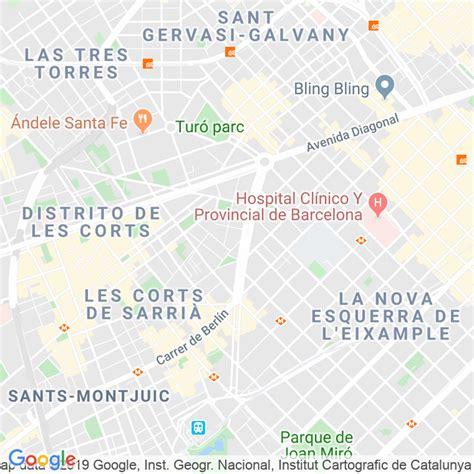 Código Postal calle Corts, De Les, plaça  Impares Del 1 Al ...