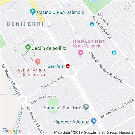 Código Postal calle Corts Valencianes, De Les, avinguda en ...