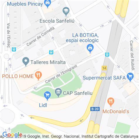 Código Postal calle Emigrant en Hospitalet de Llobregat,l ...