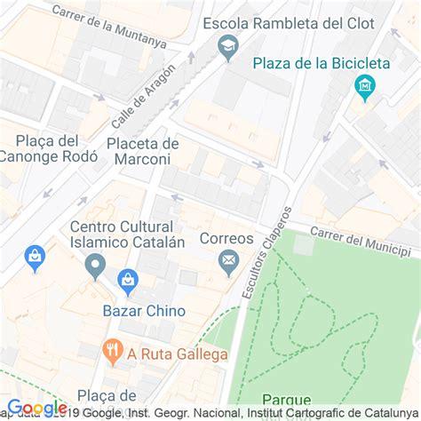 Código Postal calle Escoles, De Les  Impares Del 1 Al ...