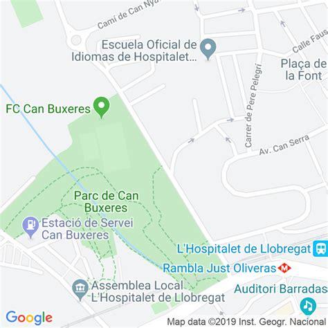 Código Postal calle Esplugues, carretera en Hospitalet de ...