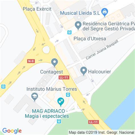 Código Postal calle Estudiants, passatge en Lleida ...