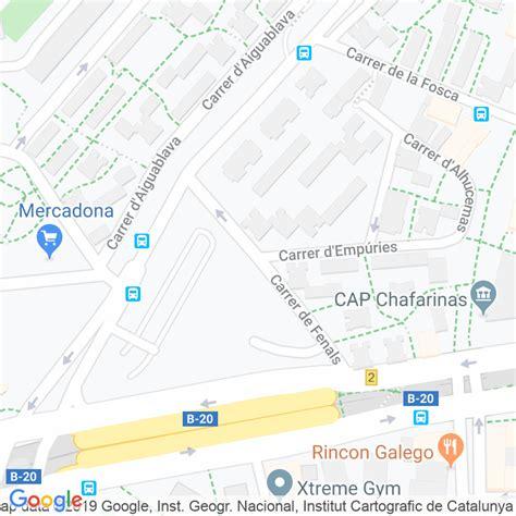Código Postal calle Fenals en Barcelona   Codigopostalde.es