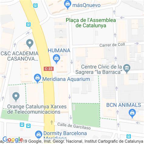 Código Postal calle Filipines, De Les en Barcelona ...