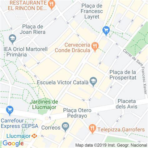 Código Postal calle Font D en Canyelles, De La, torrent en ...
