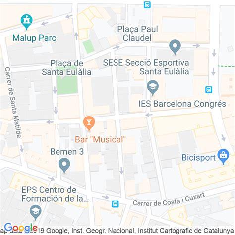 Código Postal calle Francesc Bolos en Barcelona ...