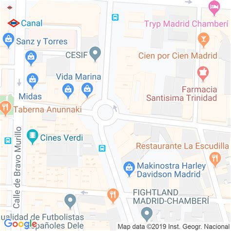 Código Postal calle General Alvarez De Castro, Del ...