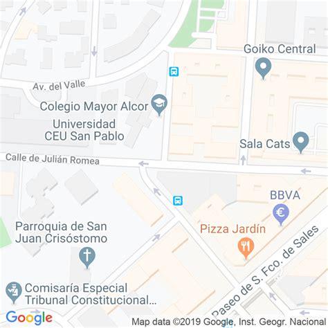 Código Postal calle General Ampudia en Madrid ...