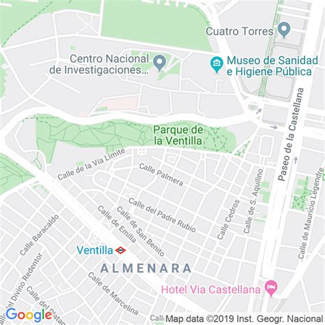 Código Postal calle General Aranda en Madrid ...
