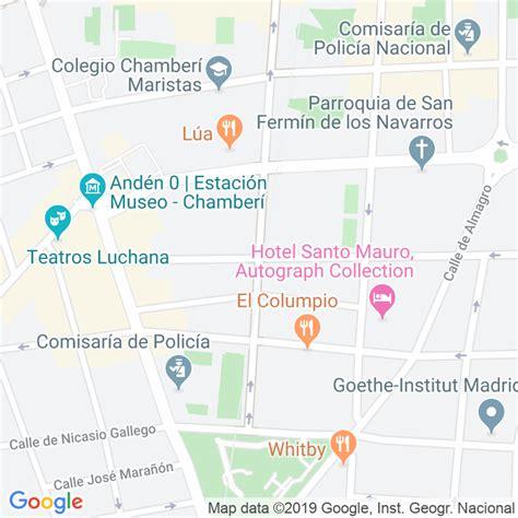 Código Postal calle General Arrando en Madrid ...