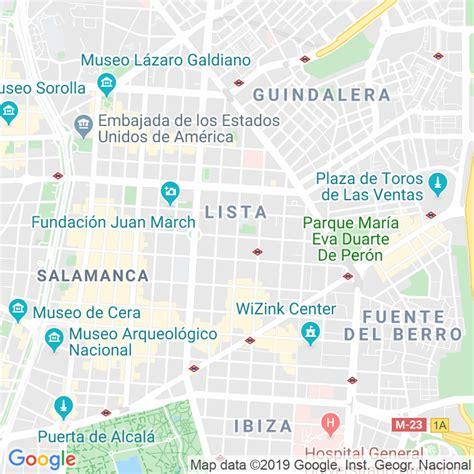Código Postal calle General Diaz Porlier  Impares Del 55 ...