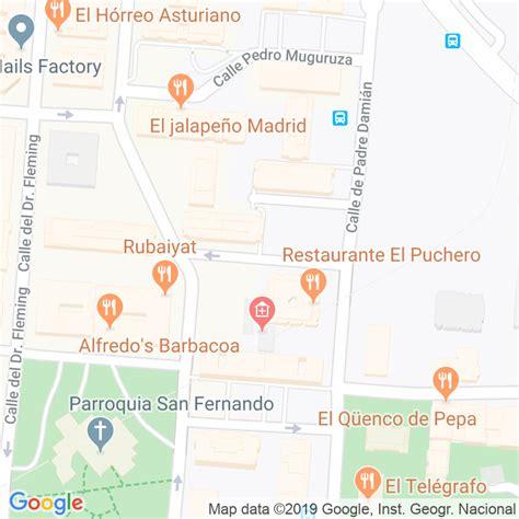 Código Postal calle General Gallegos en Madrid ...