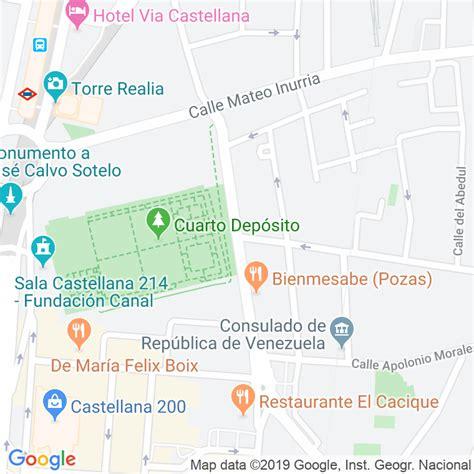 Código Postal calle General Lopez Pozas en Madrid ...