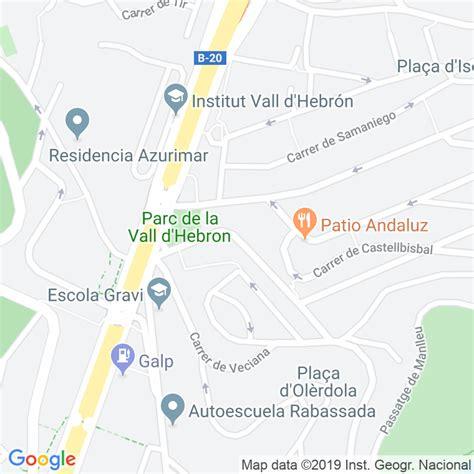 Código Postal calle General Mendoza en Barcelona ...