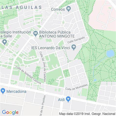 Código Postal calle General Millan Astray en Madrid ...