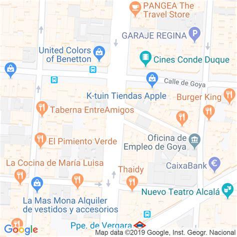 Código Postal calle General Mola, pasaje en Madrid ...