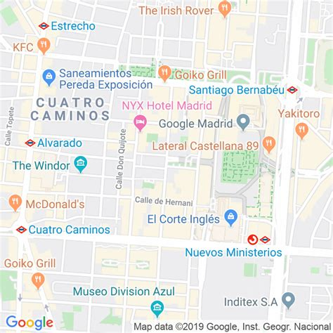 Código Postal calle General Moscardo en Madrid ...