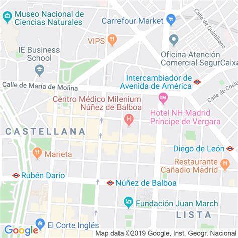 Código Postal calle General Oraa en Madrid   Codigopostalde.es