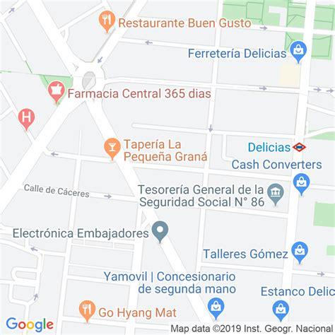 Código Postal calle General Palanca en Madrid ...