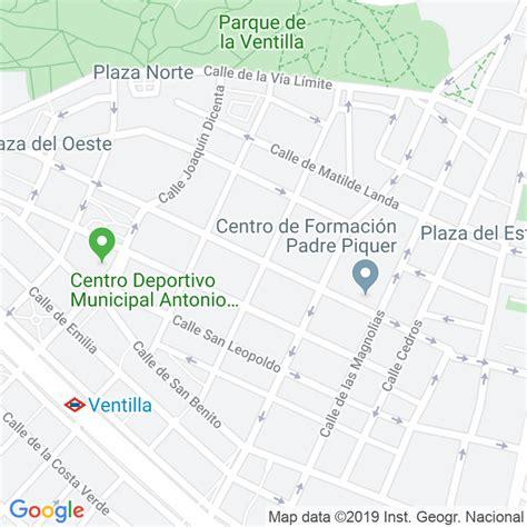 Código Postal calle General Pintos, pasaje en Madrid ...
