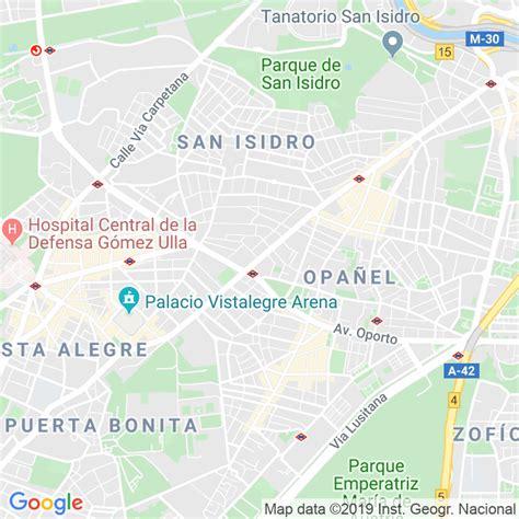 Código Postal calle General Ricardos  Impares Del 157 Al ...