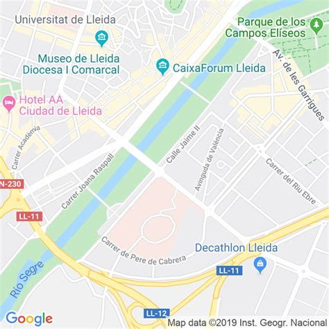 Código Postal calle Jaume Ii en Lleida   Codigopostalde.es